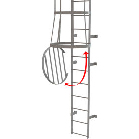 Fixed Steel Cage Ladder Cage Door for Bottom of Cage, Gray - OPFS04