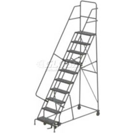 10 Step Steel Rolling Ladder - Perforated