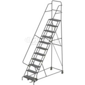 11 Step Steel Rolling Ladder - Grip Strut