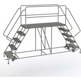 "5 Step Steel Double Entry Mobile Platform, 66""L x 24""W - WLDS152466"