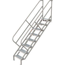 8 Step Industrial Access Stairway Ladder - Perforated