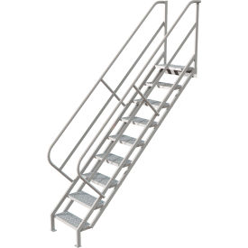 9 Step Industrial Access Stairway Ladder - Perforated
