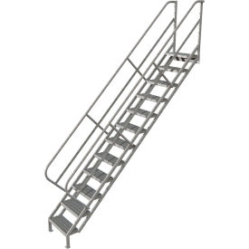 12 Step Industrial Access Stairway Ladder - Grip Strut