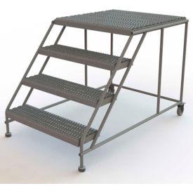 "Mobile 4 Step Steel 36""W X 36""L Work Platform Ladder Without Handrails"