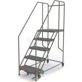 """Mobile 5 Step Steel 24""""W X 24""""L Work Platform Ladder - 800 Lb. Capacity"""