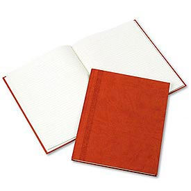 Hardbound Da Vinci Notebook, College Rule, 11 x 8-1/2, 75 Sheets, Saddle-Color