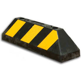 "Bus/Truck Wheel Stop - 21""L x 6""H- Black/Yellow"