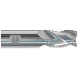 """Made in USA Coarse Cobalt Roughing End Mill 1-1/4"""" Dia 3/4"""" Shank 2"""" Flute 4-1/2"""" OAL"""