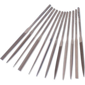 "Import 12 Piece Needle File Set Length: 4"", Cut 2, No. of Pieces: 6"