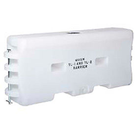 TrafFix Devices Water-Cable Barrier™, White, 45332-MW