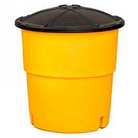 TrafFix Devices Big Sandy® 48000 Series, 1,400 lb Capacity Barrel With Lid, 48140-0