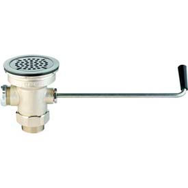 T & S Brass Waste Valve w/ Twist Handle-Male