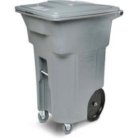 Toter Heavy Duty Two-Wheel Trash Cart w/Casters, 64 Gallon Graystone - ACC64-01GST