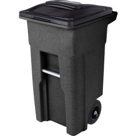 Toter Heavy Duty Two-Wheel Trash Cart, 32 Gallon, Blackstone - ANA32-10767