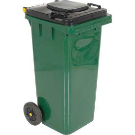 Toter Heavy Duty Two-Wheel Trash Cart, 32 Gallon Greenstone - ANA32-55410