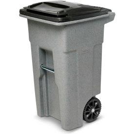 Toter Heavy Duty Two-Wheel Trash Cart, 32 Gallon Graystone - ANA32-60594
