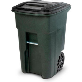 Toter Heavy Duty Two-Wheel Trash Cart, 48 Gallon Greenstone - ANA48-51406