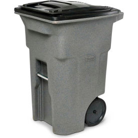 Toter Heavy Duty Two-Wheel Trash Cart, 64 Gallon Graystone - ANA64-10827