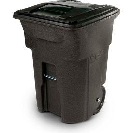 Toter Heavy Duty Two-Wheel Trash Cart, 96 Gallon, Brownstone - ANA96-58538