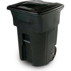 Toter Heavy Duty Two-Wheel Trash Cart, 96 Gallon Greenstone - ANA96-54342