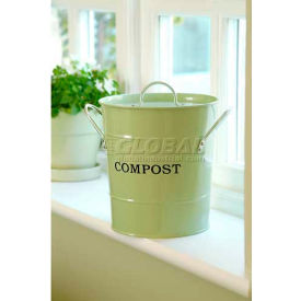 "2-N-1 Compost Bucket, Small, 7-1/2""Dia. 9-3/4""H, Apple Green"
