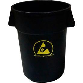 Transforming Technologies 44 Gallon Anti-Static Waste Basket, Black - WBAS180