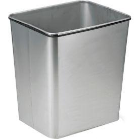 Transforming Technologies 28 Quart Stainless Steel Clean Room Waste Basket - WBAS28MET