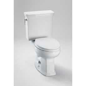 TOTO CST423EFG-01 Promenade 2-PC E-Max Universal Height Round Toilet W/SanaGloss, CO WHT by