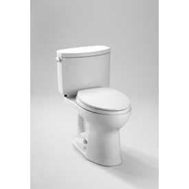 TOTO CST454CEFG-01 Drake II 2 Piece Toilet W/Elongated Bowl & SanaGloss, Cotton White by