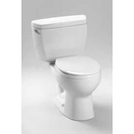 TOTO CST743SR-01 Drake 2 Piece Toilet W/Round Bowl & Right Hand Trip Lever, CO WHT by