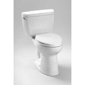 TOTO® CST744E-11 Eco-Drake® Elongated Bwl Toilet C744E+St743E, Colonial White