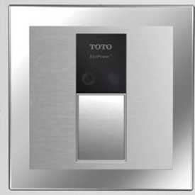TOTO® TET3LN31-SS Concealed Eco 1.28 GPF Tlt EFV W/4 X 4 Cover & VB13RB-31, Stainless Steel