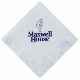 "Beverage Napkins 3-Ply, Folded 5"" x 5"", Open 10"" x 10"", White by"