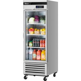 Turbo Air TSR-23GSD-N6 Glass Door Refrigerator 23 Cu. Ft. Steel