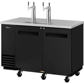 2 Keg Capacity Beer Dispenser Black by