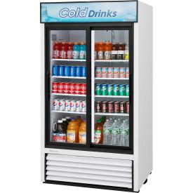 "Turbo Air TGM-35R - Merchandiser, Refrigerated, White, 2 Sliding Glass Doors, 35 Cu. Ft., 41-1/2""W"