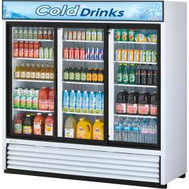 "Turbo Air TGM-69R - Merchandiser, Refrigerated, White, 3 Sliding Glass Doors, 69 Cu. Ft., 78""W"