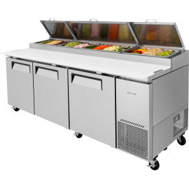 Turbo Air TPR-93SD Super Deluxe Series - Pizza Prep. Table - 3 Door