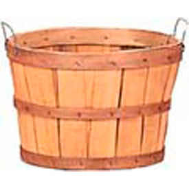 1/2 Bushel Wood Basket with Two Metal Handles 12 Pc - Natural - Pkg Qty 12