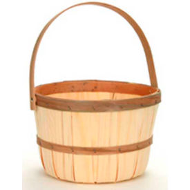 1/2 Peck Wood Basket with Wood Handle 12 Pc - Eggplant - Pkg Qty 12