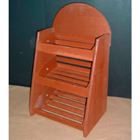 """Wood Crate Counter Rack 28""""H x 13""""W x 9""""D with (3) Levels - Burnt Orange"""