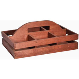 Retail Display Fixtures Baskets Crates Wooden Divided Wood