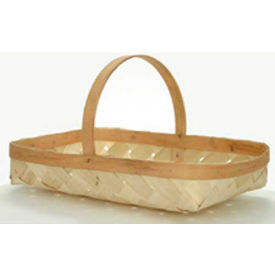 "X-Large Rectangle 21"" x 12-1/2"" Wood Basket with Wood Handle 3 Pc - Flowerpot - Pkg Qty 3"
