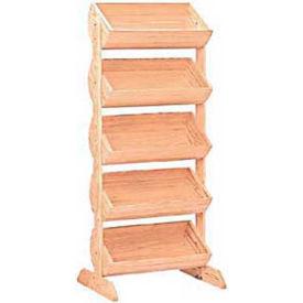"Wood Barrel Rack 58""H x 27""W x 16""D with (5) Large Barrels - Black"
