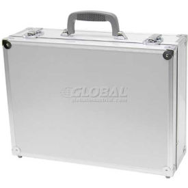 """TZ Case, Business/Office Case, 18""""L x 13""""W x 6""""H, Grey Handle, Smooth Silver"""