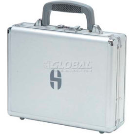 """TZ Case, Business/Office Case, 11-1/2""""L x 9""""W x 3-1/4""""H, Smooth Silver"""