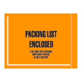 "4-1/2 x 6"" Orange Packing List Enclosed - Full Face Mil-Spec - 1000/Pack"