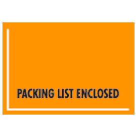 """Orange Packing List Enclosed - Full Face Mil-Spec, Wide Open Space 4-1/2"""" x 6"""" - 1000 Pack"""