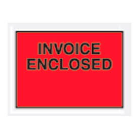 """Red Invoice Enclosed - Full Face 4-1/2"""" x 6"""" - 1000 Pack"""