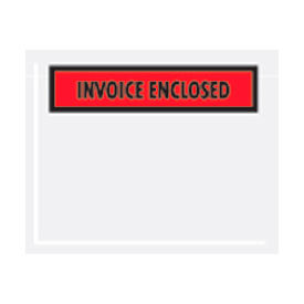 """Red Invoice Enclosed - Panel Face 4-1/2"""" x 6"""" - 1000 Pack"""